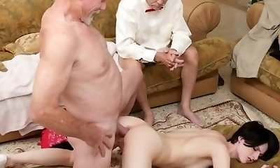 Old guy cums inwards first time Frannkie
