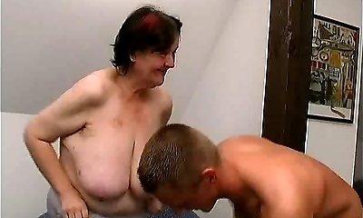young fellow fucks 70 yo ugly yam-sized granny oma