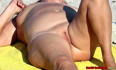 Nude Milfs Mature Ladies Beach Voyeur HD Video