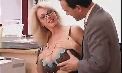 Yam-sized Titted Mommy with her Boss...F70