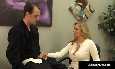 Buxomy Blonde Milf Julia Ann Milks Cum From Rock Hard Dick!
