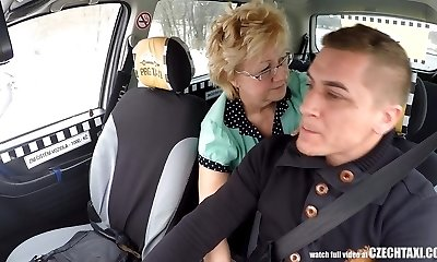 Czech Mature Blonde Hungry for Taxi Drivers Spear
