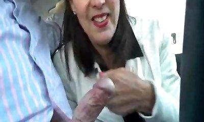 British mature georgie car blowjob