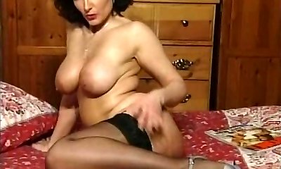 Hot Brunette Buxomy Milf Teasing in various outfits V SEXY!