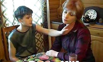 Teen guy hot fucking appetizing mom