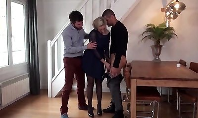 French Mature Dual Penetrated