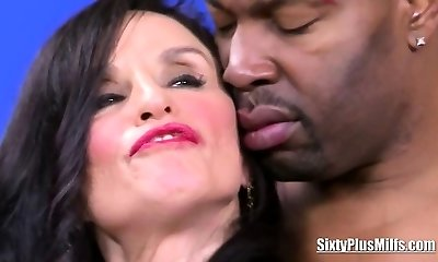 Milf fucked by a black cock