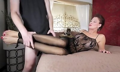 Mom in stockings