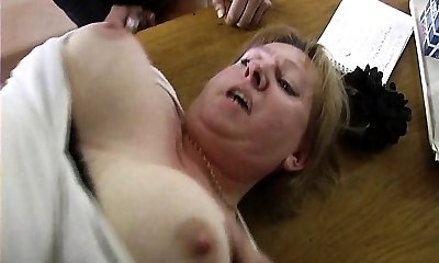 French tutor gangbanged by her students