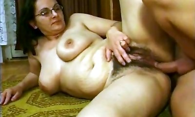 HAIRY GERMAN Mother IN GLASSES Dp JOINED