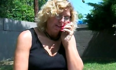 An old milf slut in glasses bj's a mean cock
