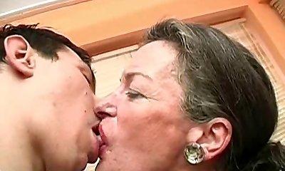 Smooching Grandma