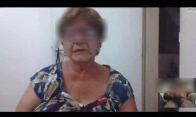 Brazilian granny captured masturbating on skype