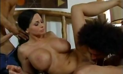 Harley Rain - Mother fucked by 2 young fellows