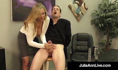 Adult Award Winner Julia Ann Jerks A Cock With Torrid HandJob!