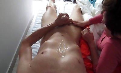 Masturbating under Mommys supervision