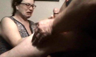 MILF Assistant Swallows Boss Cum On Hidden Cam