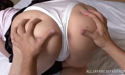 Wako Anto hot mature Asian stunner in position 69