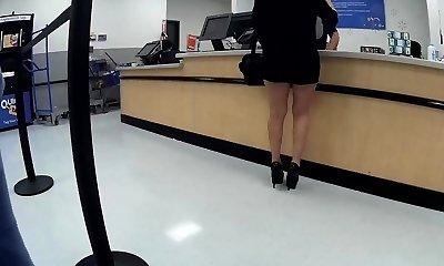 Latina granny high heels brief cutoffs(Playtime)