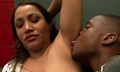 Cool pornstar in incredible interracial, creampie xxx scene