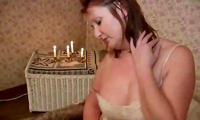 Mature Mistress - Licking her Feet, Ass & Pussy (+slow)