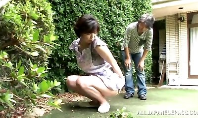 Japanese AV Model is a crazy maid luving a hard fucking