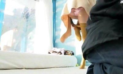 Incredible Asian breezy Anna Momoi, Nozomi Wakui in Outstanding Girlfriend, Public JAV video
