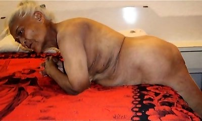 Chubby Grandmother with Toys Then a Real Boner