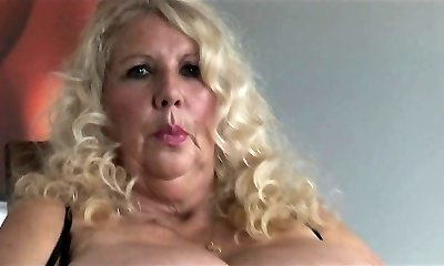 VIP busty blonde tramp labia nailed rigid in close up