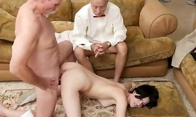 Old man and nurse red-hot romps dirty slut