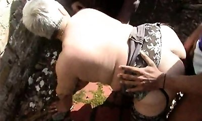 He shared his wifey Murielle in an outdoor gangbang