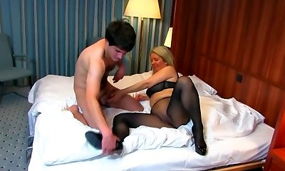 Mom Fucks Son in Pantyhose
