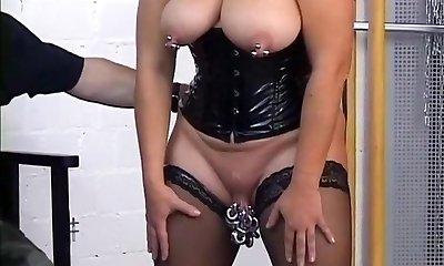 Amazing amateur Piercing, Big Tits hard-core video