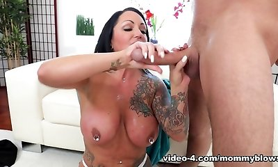 Ashton Blake & Brad Knight in The Tatted Stepmother - MommyBlowsBest
