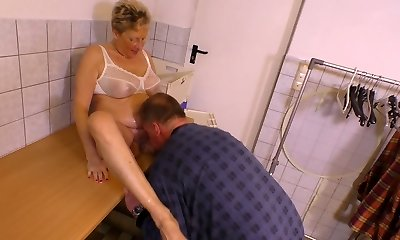 Urinate fetish aged dude pisses on nasty aged chick before a steamy pussy pounding scene