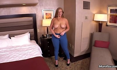 Ginger gets thick bum fucked POV