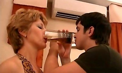 Russian mature Margaret tablefuck