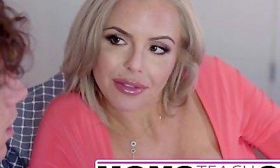 Moms Instruct Sex -  Hot mom caught stroking off step son