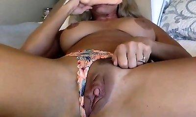 granny with fat boobs has fun