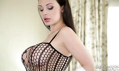 Handsome mom Aletta Ocean in hot masturbating solo compilation