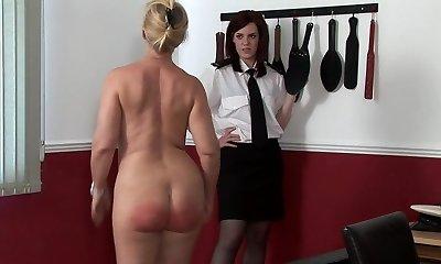 spanking mature female