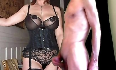 cuckold jism for mature big-titted wife in stockings