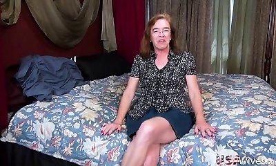 USAwives Grandma Carmen Solo Fucktoys Masturbation