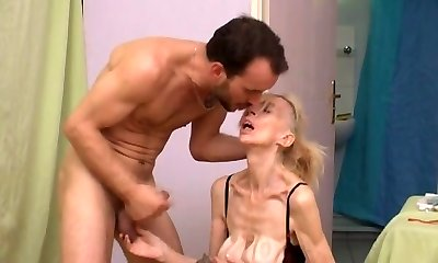 French gross mature bi-atch Marie-The anorexique