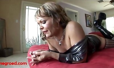 ugly old grandma gets fuck head by big ebony negro spear and