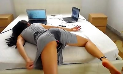 She ass boinked herself to bed
