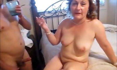 Boy Fucking Mature Wife while Husband Enjoys Watching