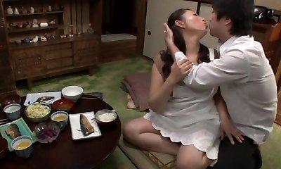Aya Kitagawa crazy Asian mature housewife gets assfucking fucking