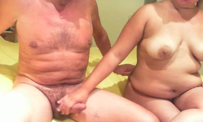 Mature couple enjoys 69 position blowjob pleasures in homemade