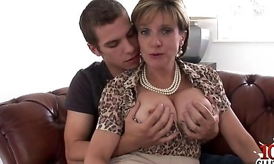 Natural tits first time assfucking